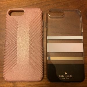 Speck Sparkle Rose Gold & Kate Spade 8Plus cases